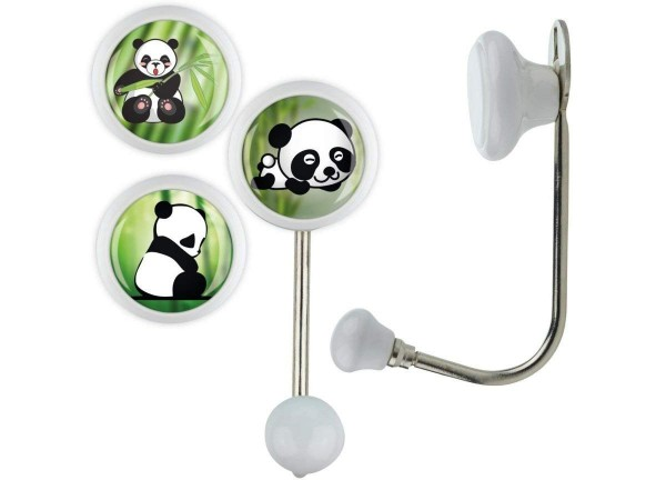 Kleiderhaken Set 009 Bestseller 3er Set Einzel Weiss Panda Bär 009