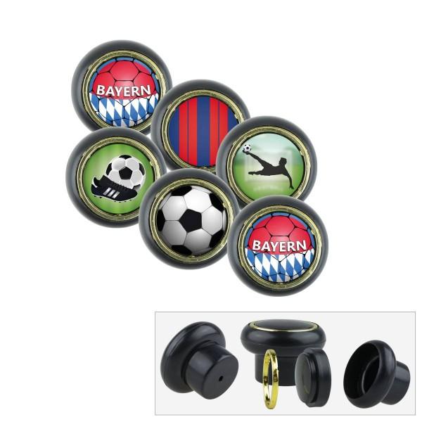 Kunststoff Möbelknopf Set 019SP Fußball Bundesliga Bayern 6er
