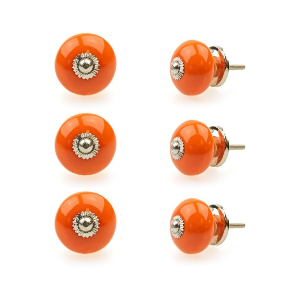Jay Knopf 6er Möbelknopf Set 118GN Orange