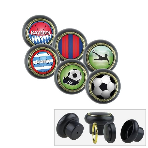 Kunststoff Möbelknopf Set 021SP Fußball Bundesliga Bayern 6er