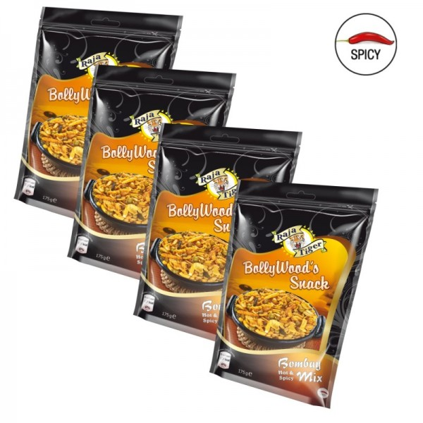 4er BollyWood's Snack Bombay Mix - Hot & Spicy